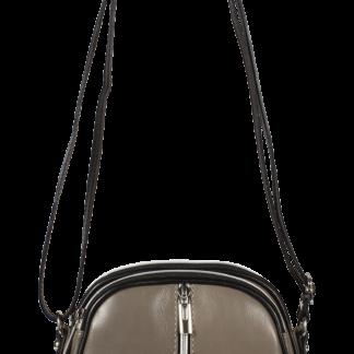 Malá kožená kabelka Icaro Grigio Nero