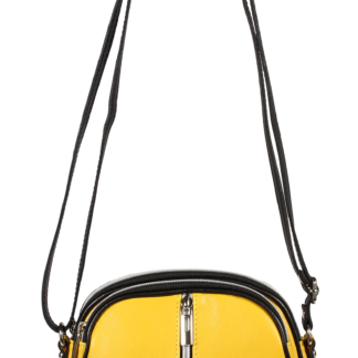 Žlutá italská kožená kabelka přes rameno Icaro Giallo