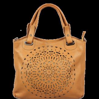 Dámská kožená kabelka přes rameno Celina Camel