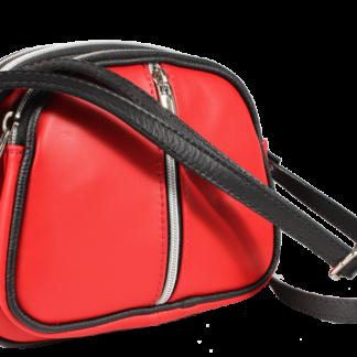 Icaro Rosso Chiaro kožená kabelka přes rameno