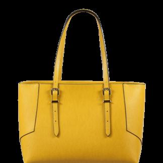 Žlutá kožená kabelka přes rameno Linda Gialla