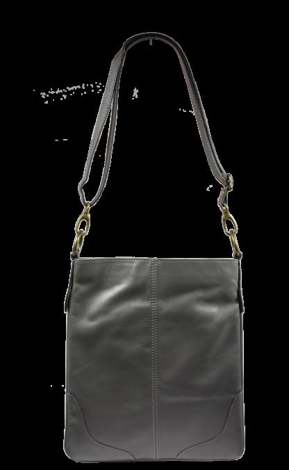 Italská kožená kabelka přes rameno Sefora Grigia Scura