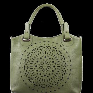 Zelená dámská kožená kabelka Celina Verde