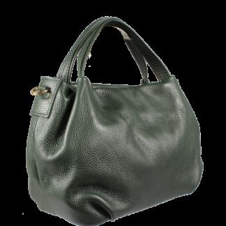 Zelená kožená kabelka Tea Verde Scura