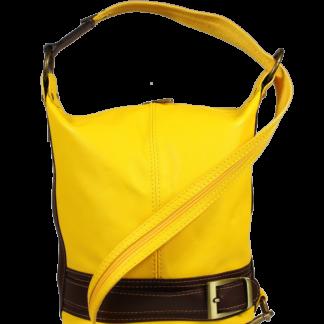 Kožená kabelka crossbody Adele Gialla