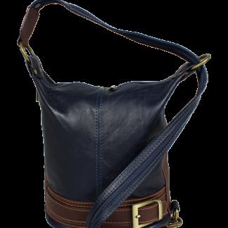 Kožená kabelka crossbody Adele Blu