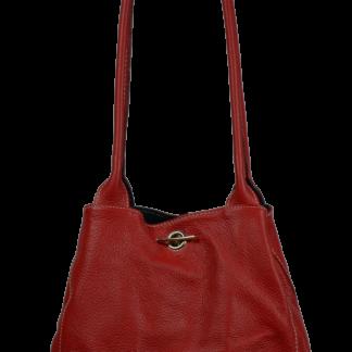 Kožená kabelka Irmina Rossa Barva vnitřku: černá