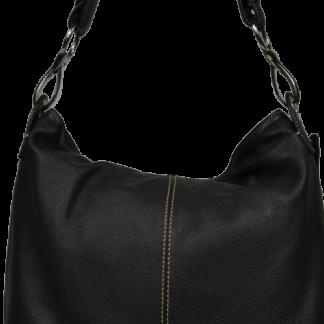 Černá kožená kabelka Chola Nera