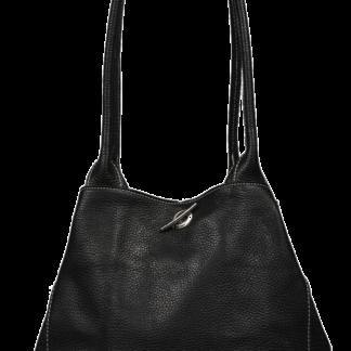 Oboustranná kožená kabelka Irmina Nera Barva vnitřku: hnědá