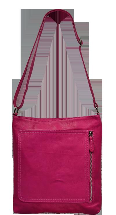 Růžové kabelky crossbody Flora Rosa