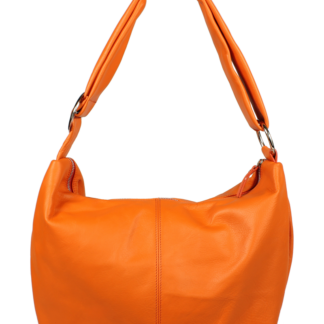 Oranžová kožená kabelka Gondola Arancione