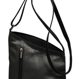 Tmavá kožená kabelka Angola Grigia