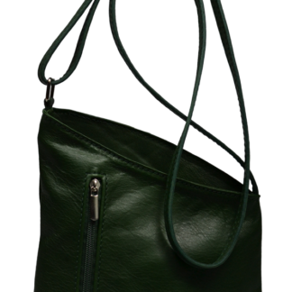 Zelené kožené kabelky Angola Verde