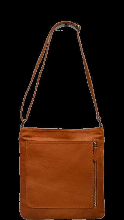 Kožené kabelky crossbody Flora Camel