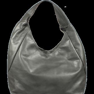 Italská kožená kabelka Tita Grigia Scura