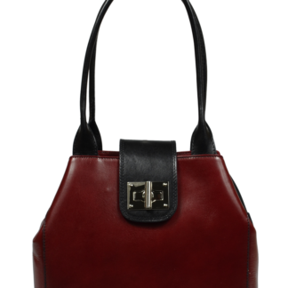 Kožená kabelka přes rameno Angela Rossa Nero