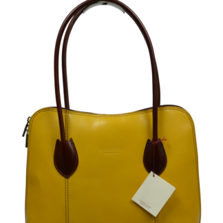Žlutá kožená kabelka Palagio Gialla Marrone