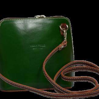 Zelené kožené kabelky Grana Verde Marrone