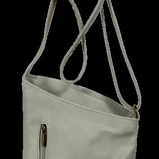 Malé kožené kabelky do ruky Angola Grigia Luce