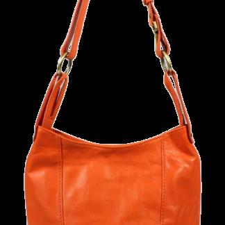 Kožená kabelka Lagia Arancione Chiaro Piccola