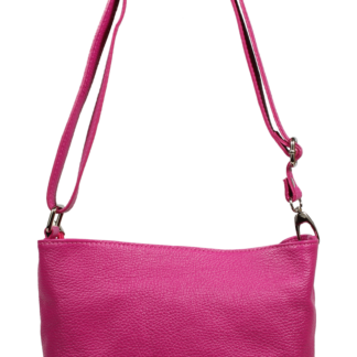 Levná růžová kabelka přes rameno Batilda Fuxia