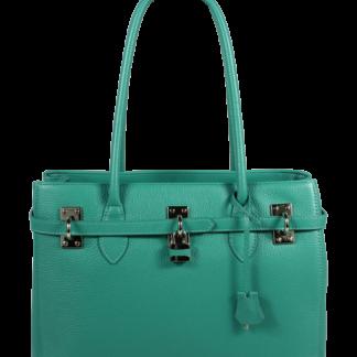 Italská kožená kabelka Azra Grande Turchese