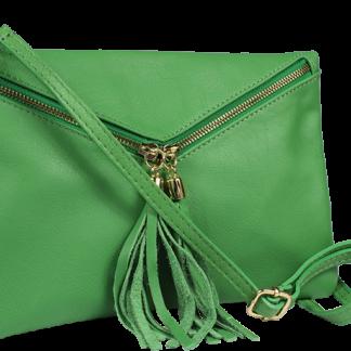 Malá Italská kožená kabelka Maida Verde Taschino