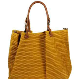 Žlutá kožená kabelka Belloza Gialla Scura
