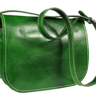 Zelená kožená kabelka z Itálie Floriano Verde