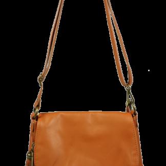 Kožená Italská kabelka Prima Camel