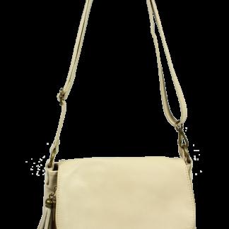 Béžová Italská kožená kabelka Prima Beige