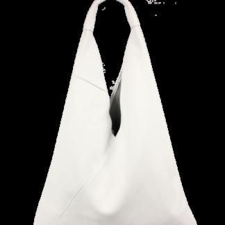 Bílá kožená kabelka Alma Bianca