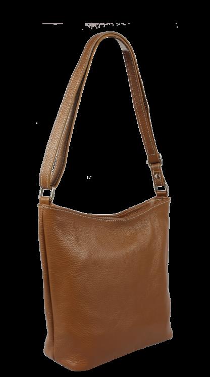 Crossbody kožená kabelka Ebe Marrone