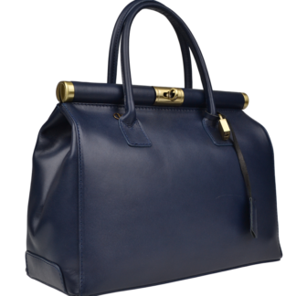 Doktorská kabelka do ruky Laureta Blu Lisciare