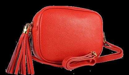 Malá kožená kabelka Bala Rossa Corallo