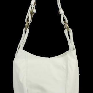 Bílá kožená kabelka přes rameno Lagia Bianca Piccola