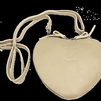 Malé italské kabelky Cuore Beige