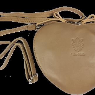 Italská kožená kabelka Cuore Taupe