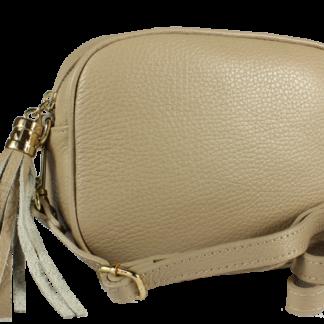 Italská kožená kabelka Bala Taupe