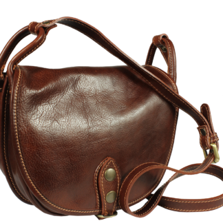 Italská kabelka z pravé kůže Caccia Cafe Piccola
