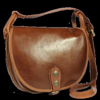 Italská kožená kabelka Caccia Marrone Piccola